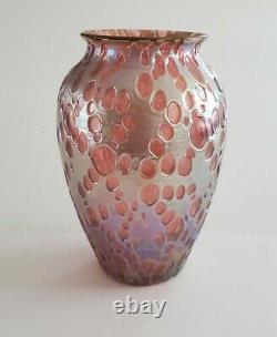 Loetz Vase in Rare Pink Diaspora Decor