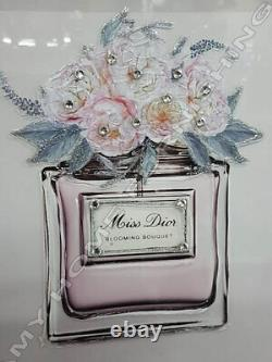 Marilyn M. Or Miss D. Perfume with crystals, liquid art pictures & mirror frames