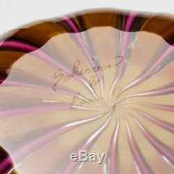 Massimilano Schiavon Glass Bowl by Master Claudio Zama c2000