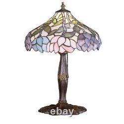 Meyda Lighting 17'H Wisteria Accent Lamp, Beige Pink Pr Purple/Blue 59 52134