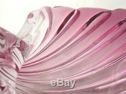 Murano Barbini large Venetian pink sculptural seashell centrepiece bowl 2.6KG