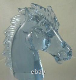 Murano Glass Pink/Blue Horse Head by LICIO ZANETTI Alexandrite Neodymium Signed