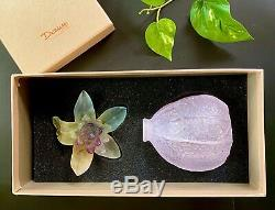 New Daum Crystal Physalis Perfume Bottle $700 Retail Signed Mint Gorgeous