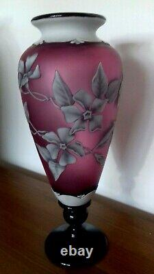 Okra Footed Cameo Vase by Richard Golding and Terri Colledge