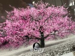Pink Blossom 3D glitter art, Small pink glitter tree silver chrome wood frame
