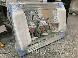 Pink Cocktail glass 3D glitter art mirrored picture with defect