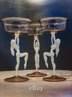 RARE Art Deco 1930's Bimini Ltd Fritz Lampl Antique Stemware & Decanter Set