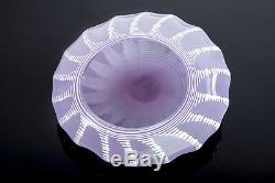 Rare Dale Chihuly Pilchuck inscribed beautiful pink & white star bowl