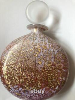 Rare Isle Of Wight Glass Pink Fizz Perfume Bottle