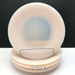 Rare Martha Stewart By Mail Pink Milk Glass Plates Fenton 10 Pieces Dinnerware