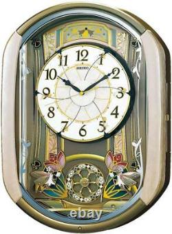 SEIKO RE567G Automaton clock with melody Pink Flower from JPN DHL Fast Ship NEW