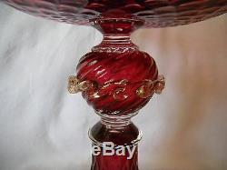 Salviati Antique Venetian Art Glass Two Piece Compote