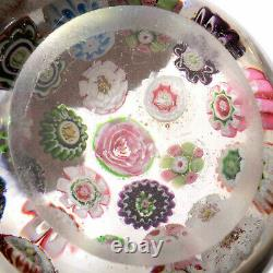Small Antique CLICHY Open Concentric withCenter Rose Plus a Second Rose