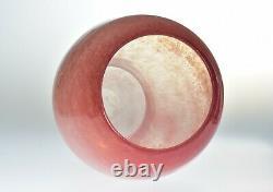 Steuben Glass 1920's Cluthra Pink Mushroom Vase #794