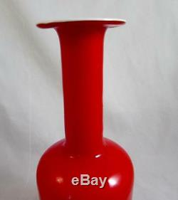 Superb Otto Brauer Coral & Opal Kastrup-Holmegaard 30cm Gulvase Vase