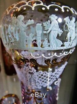 VINTAGE 1960s ITALIAN ART GLASS NEODYMIUM ALEXANDRITE DECANTERPINKPURPLEBLUE