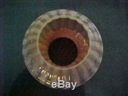 Victorian PINK OPALESCENT STRIPE Art Glass Kerosene Oil Lamp Shade 4 Duplex