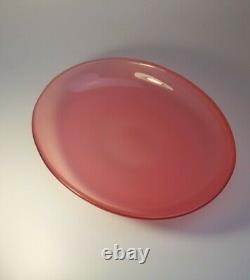 Vintage 1960s Archimede Seguso Opalescent Pink Opal Glass Art Plate Fruit Bowl