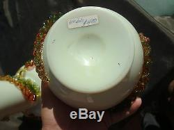 Vintage 2 THOMAS WEBB Victorian Burmese Uranium Cased Glass Vases MUSEUM Quality