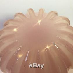 Vintage Archimedes Seguso Alabastro Vase Pink Ribbed Murano Vase LARGE perfect