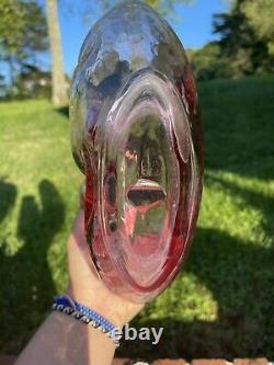 Vintage Blenko Rose Bumps Decanter