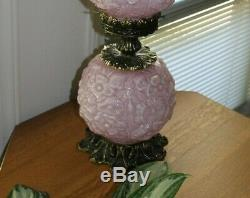 Vintage Fenton Pink Overlay Glass Poppy GWTW- Great Condition