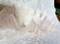 Vintage French Glass Light Shades Lot 4 (2 Pink)(1White)(1Yellow) Art Deco 25cms