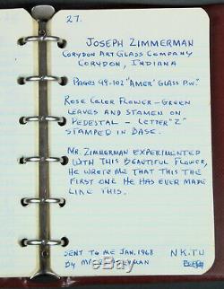 Vintage Joe Zimmerman Pink Crocus Footed Glass Paperweight