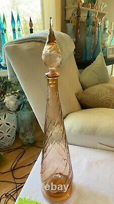 Vintage MCM salmon pink genie bottle