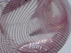 Vintage Murano Oggetti Italian Latticino Dove Art Glass Sculpture 6.5