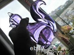 Vintage Solid Glass Murano Squirrel Alexandrite Signed Zanetti Lilac Pink Glow