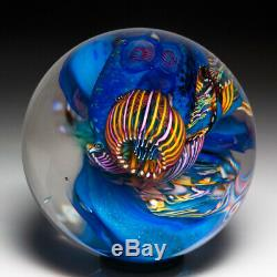 Vitra Glass Studio 1994 coral reef abstract glass paperweight, by Peggy Henry