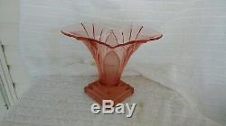 Walther & Sohne pink glass vase Greta Art Deco