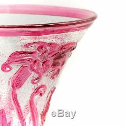 Webb Pink Cameo Fleur Vase c1933