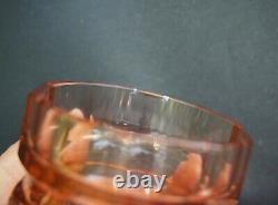 Wiener Werkstätten Josef Hoffmann for Moser Rose Crystal Decanter with 6 glasses