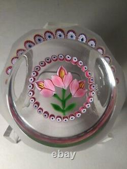 William Manson Crocus Limtd. Ed. Paperweight Made For Caithness Certificate